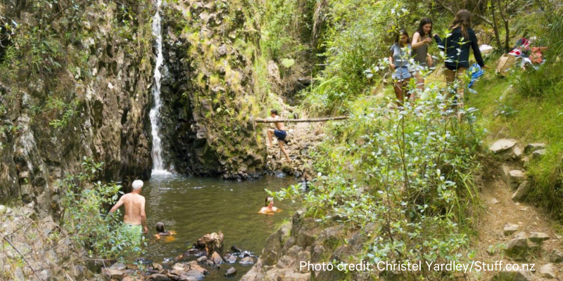Pauanu's hidden waterfall