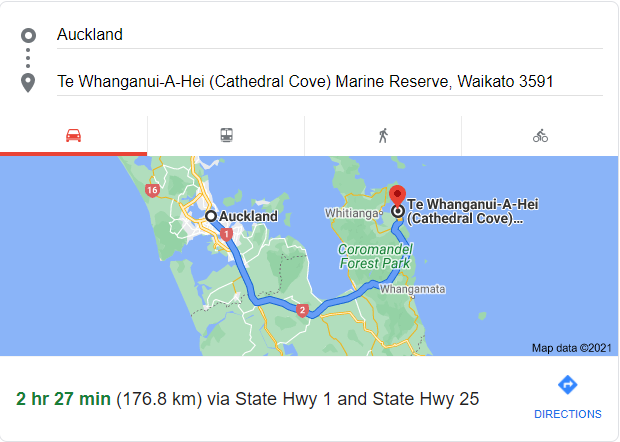 how to get to cathedral cove